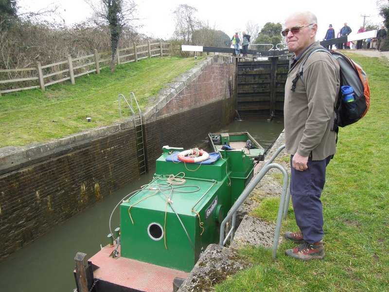 Brian and Goliath - a boat that pushes the barges we discover