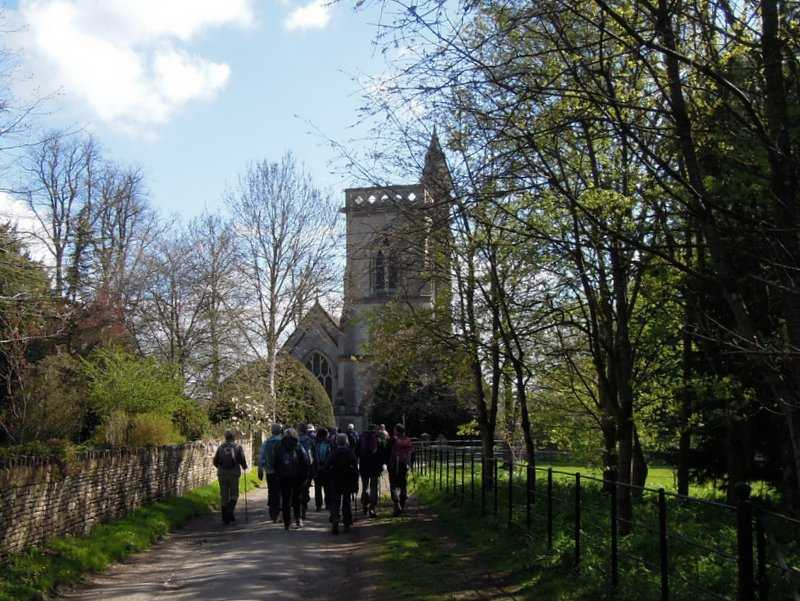We set off past the church