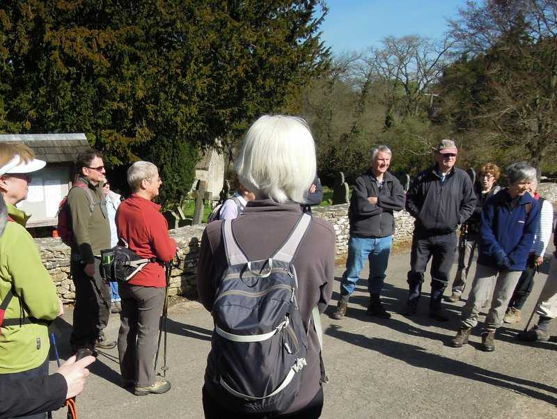 A sunny morning as we gather outside Sapperton Church