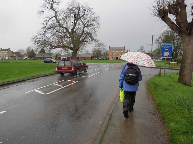 Anne avoids the very wet fields and leads us single file along roads