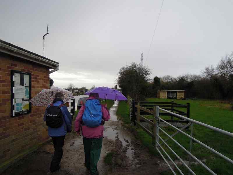 Still raining when we emerge