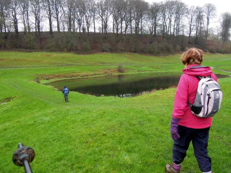 We head down to a small lake, which was known as the fishpond in medieval times