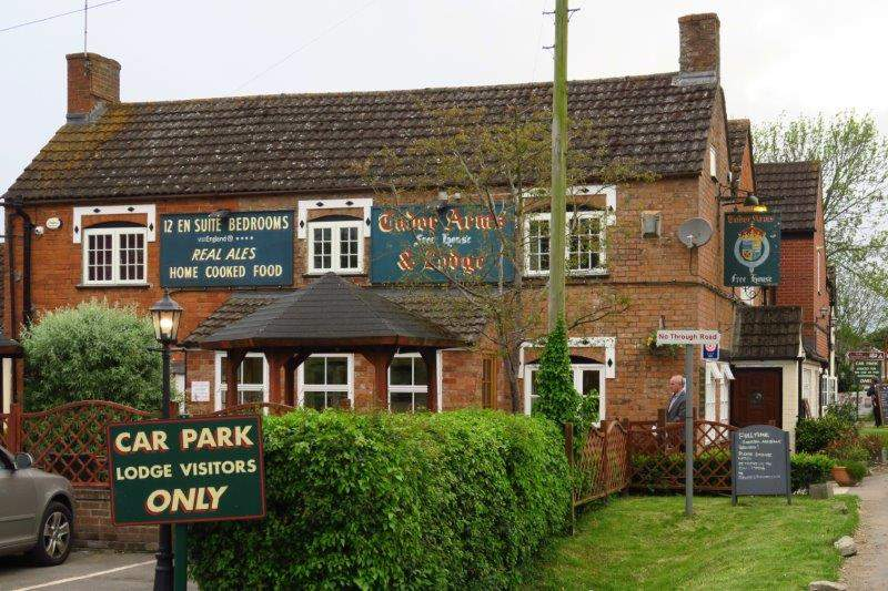 But we soon get back for dinner at the Tudor Arms.