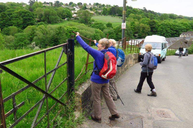 Pausing to mend a dangerous railing