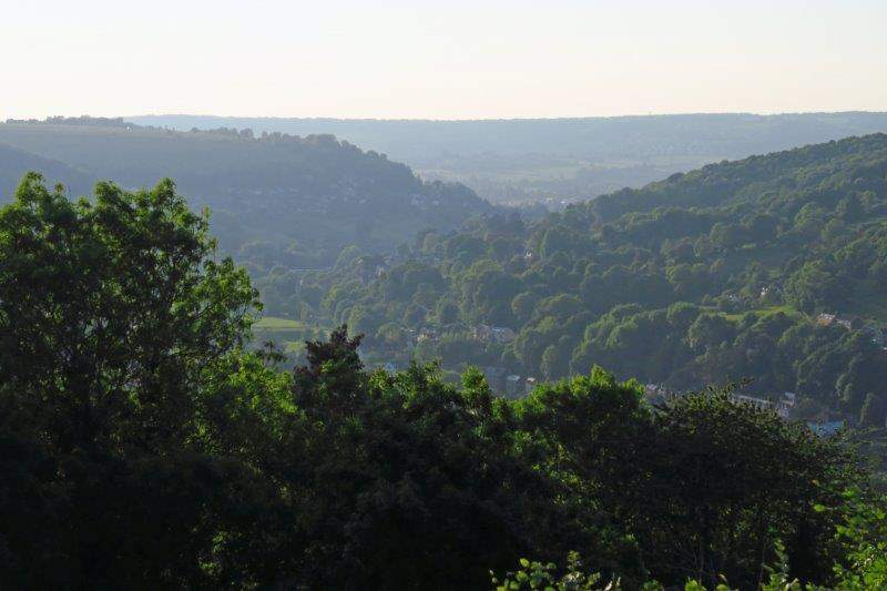 The view up the valley towards Stroud