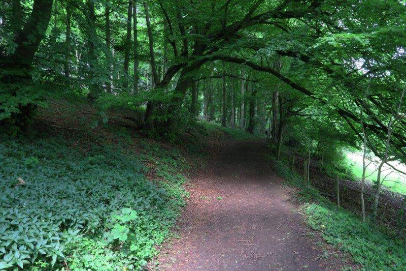 As we head round the hillside
