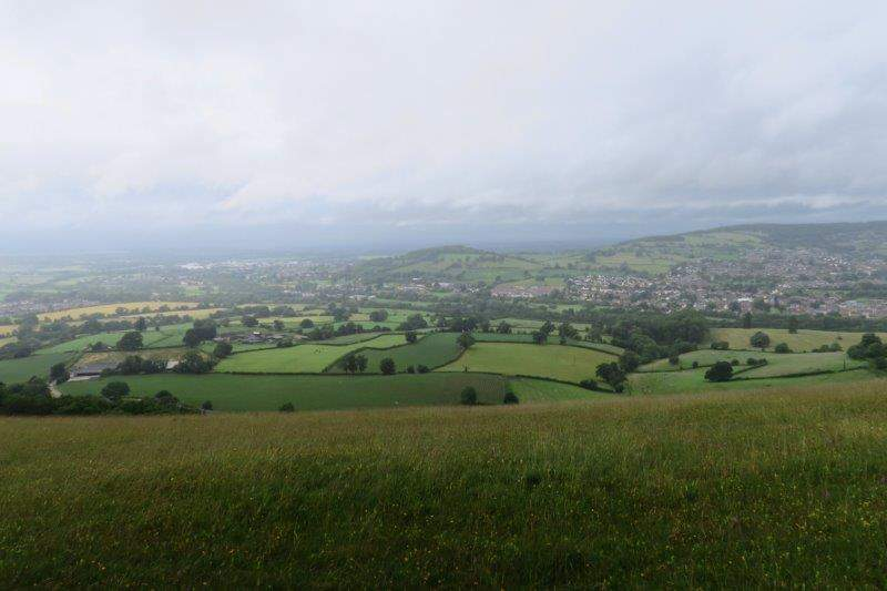 Looking down into the valley from Selsley Common