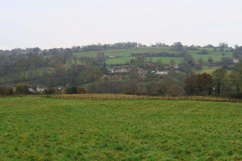 Looking across the valley