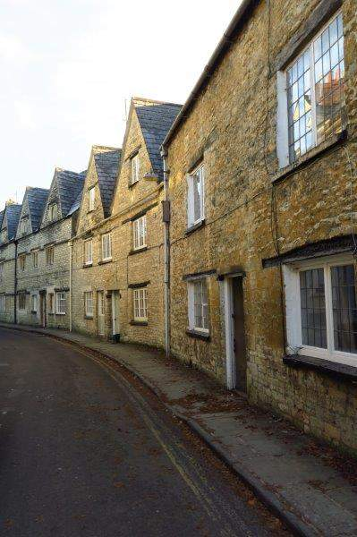 Then a row of old cottages in Coxwell Street