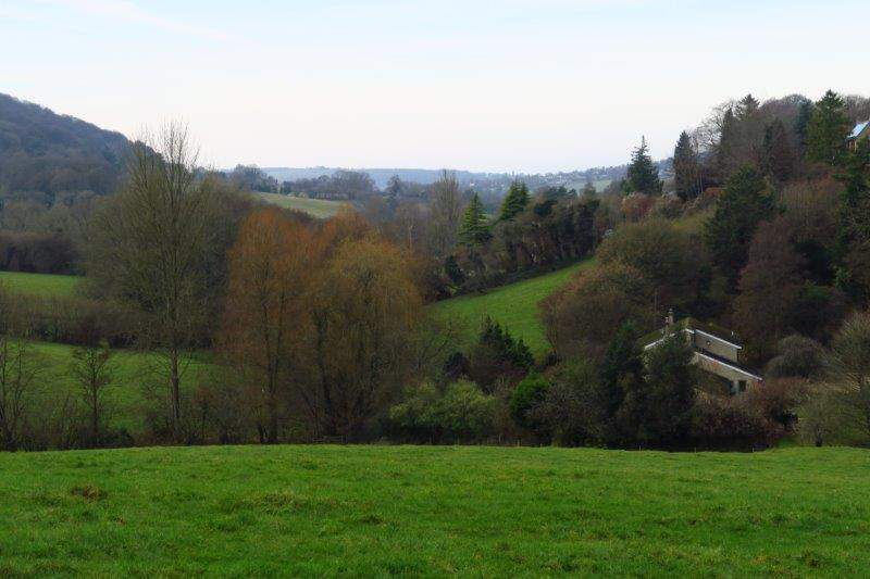 And back down towards Painswick