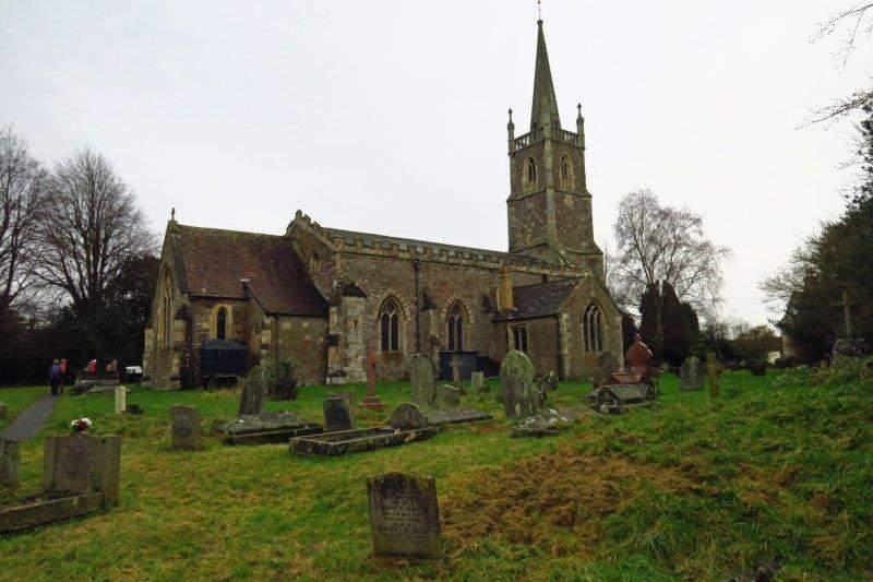 Reaching the church