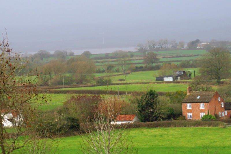 Looking over to the Severn
