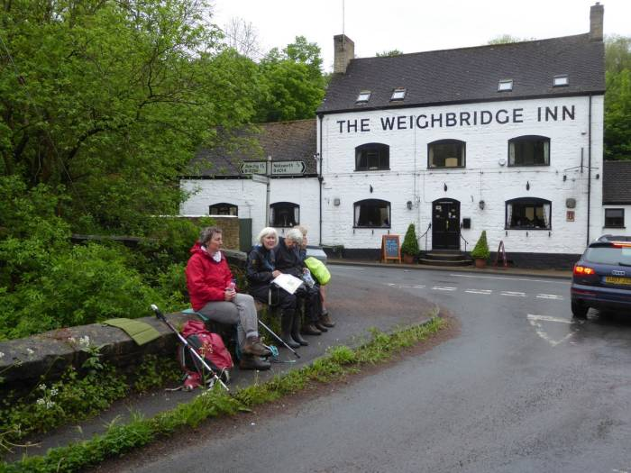 Lunch stop at The Weighbridge, well outside it really.