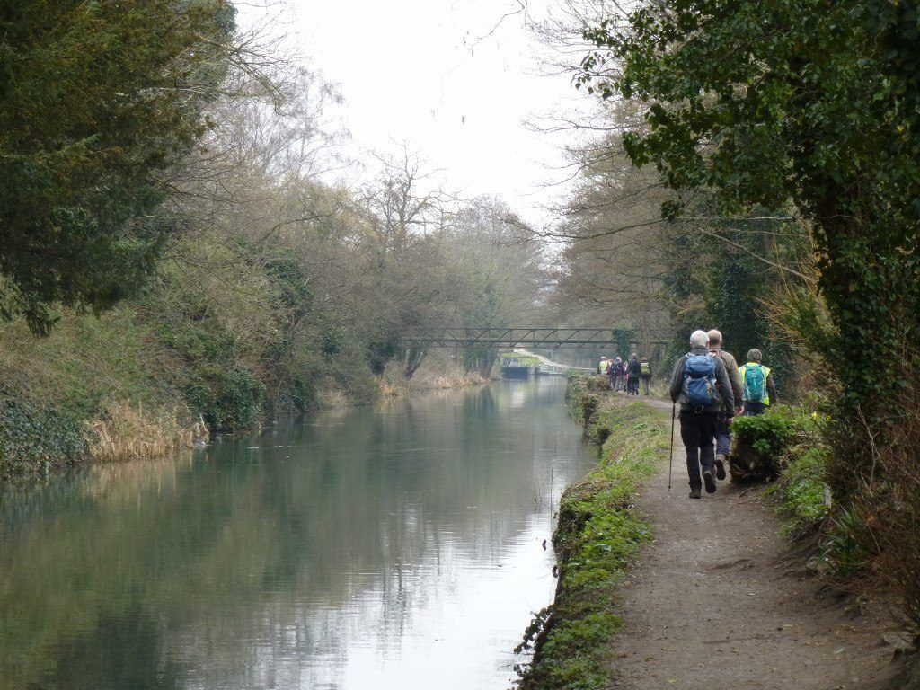 * Along the towpath between canal and river