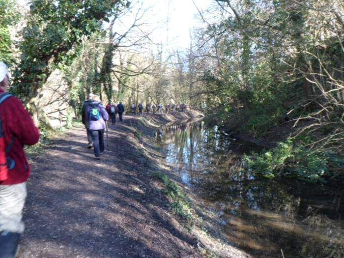 The canal takes us all the way back to below Frampton Mansell.