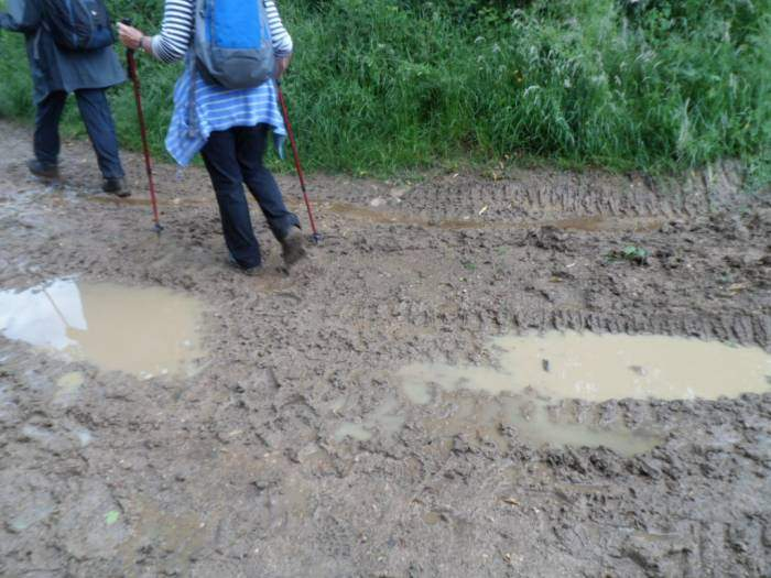 It is very, very muddy after all the rain