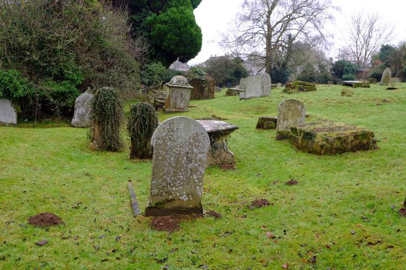 An old graveyard on our left