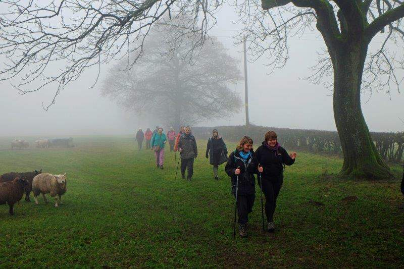 Leaving Miserden on a misty morning