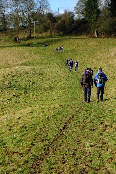 Then heading across fields