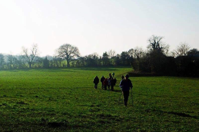 Then across fields back to the start