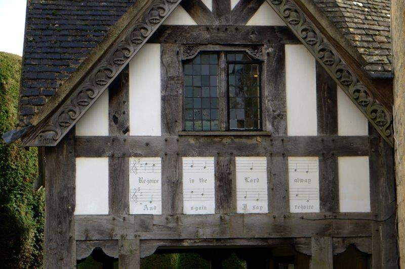 Into Painswick with its old Lych Gate