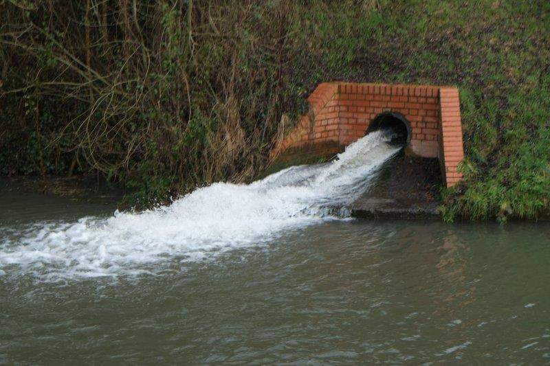 Another stream joins the canal