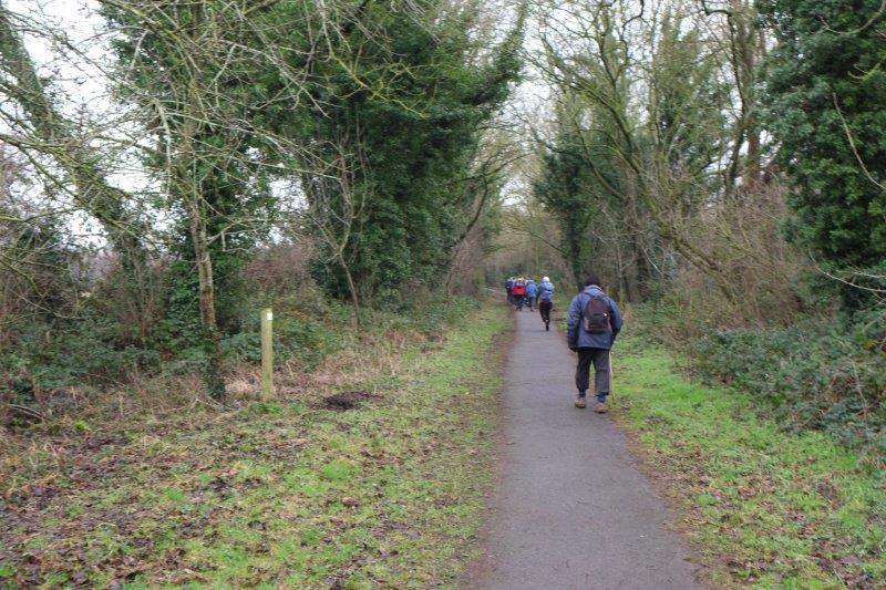 As we make our way along the cycle track