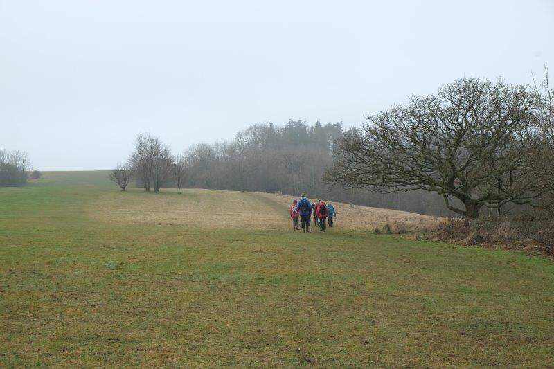 Continuing round the top of the hill