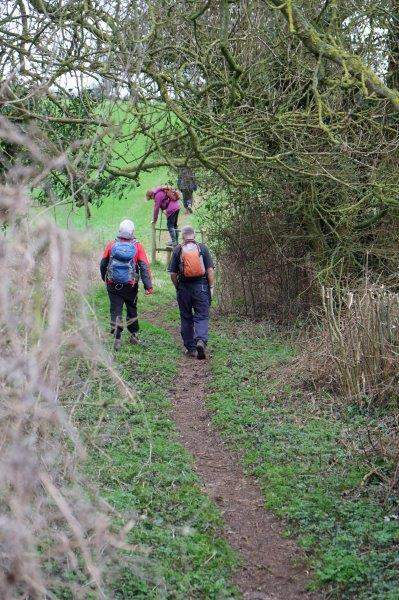 Stile erected, path cleared by Cotswold Wardens following pressure from South Cots member Bernard Smith