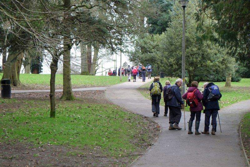 Making our way back up through the park to the CP