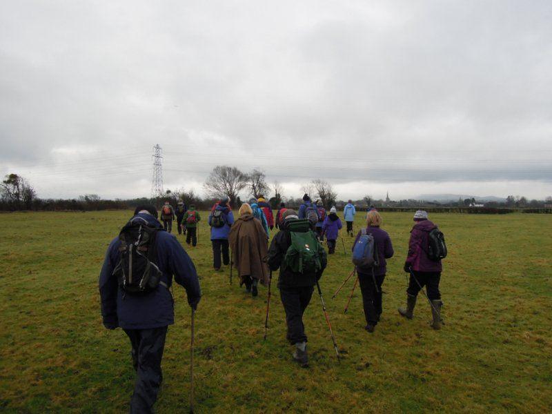We continue across fields