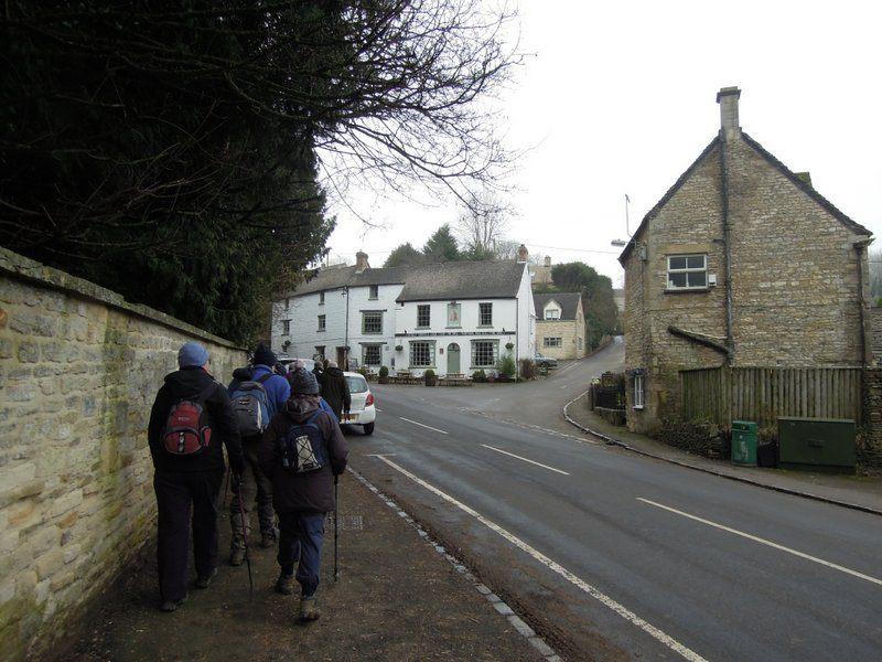 We set off through the village