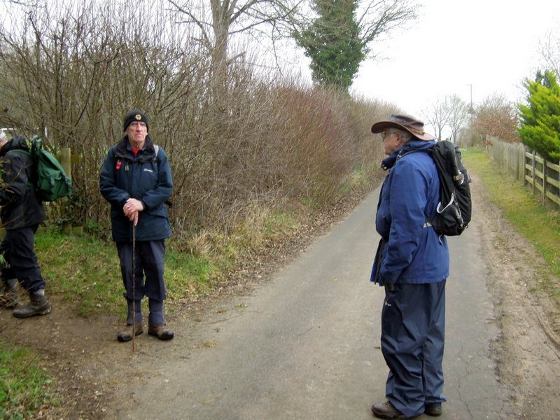 Leader John G confers with Backmarker John L - 25 here today.