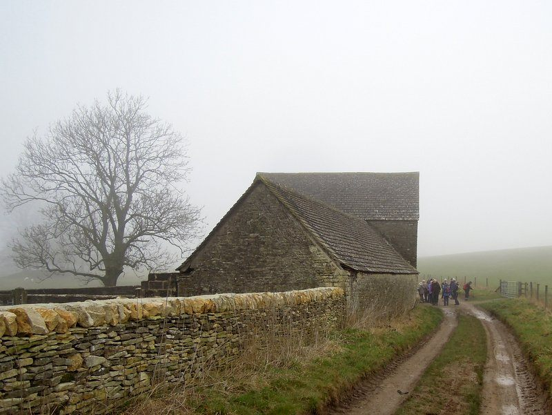 We reach a barn