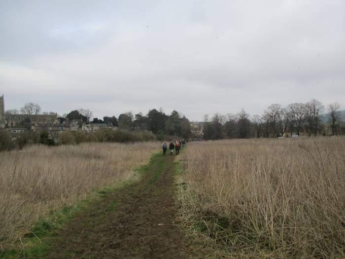 We file across the fields