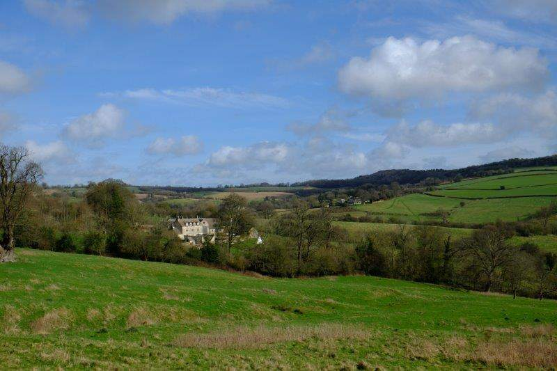 Painswick Beacon in the distance