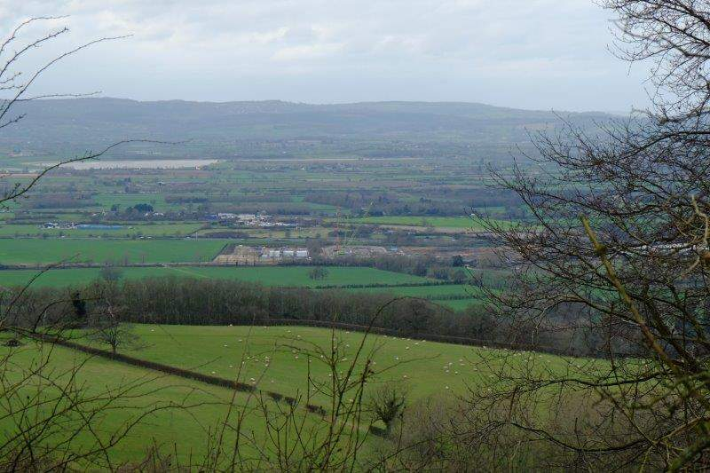 Looking down over the site of the new incinerator