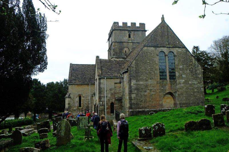 Where we stop in the churchyard