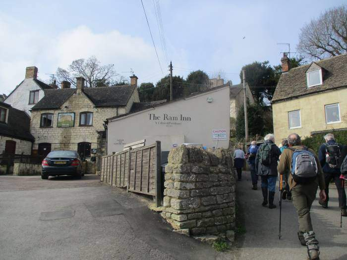 The rest of us struggle up past the Ram Inn