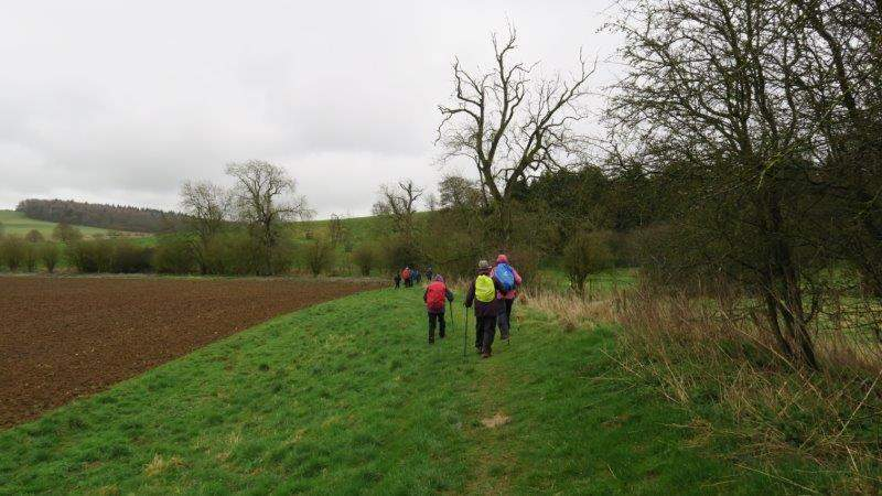 Continuing round a field