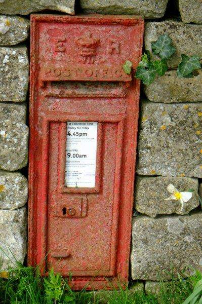 An Edwardian postbox