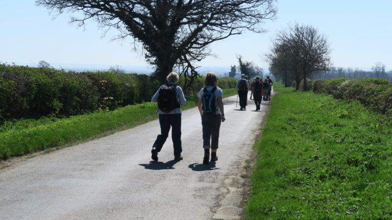 And a stretch of road taking us towards Fairford