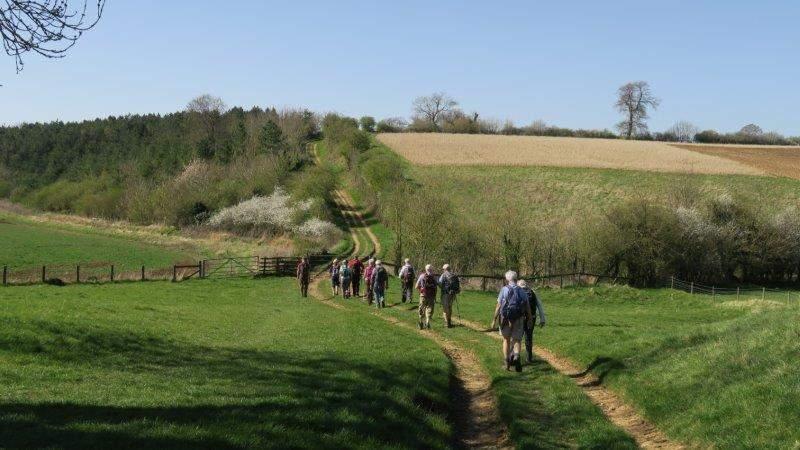 Over undulating countryside