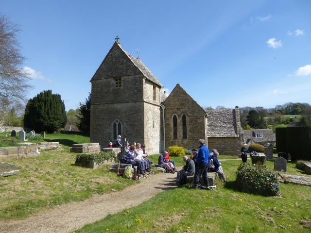 Coffee in Duntisbourne Abbots churchyard