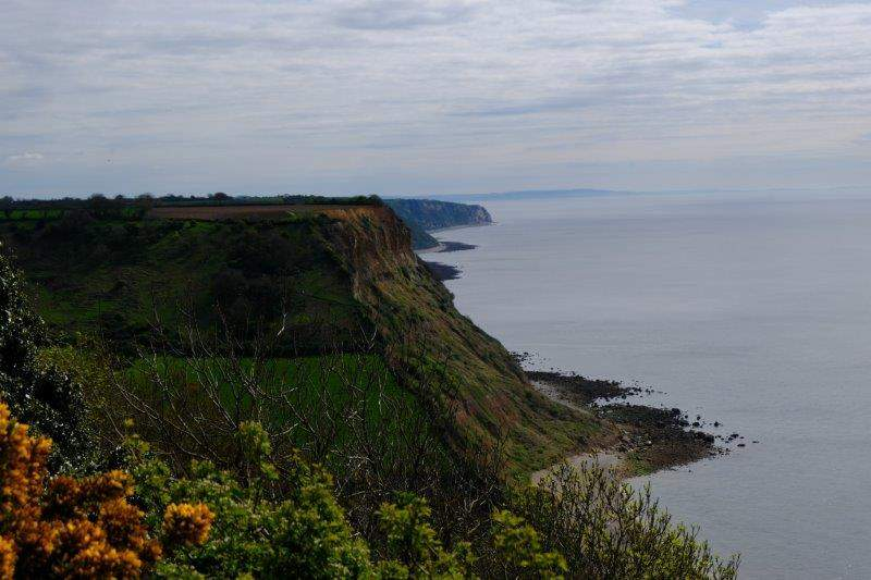 Looking along the coast Lyme Bay stretches out in front