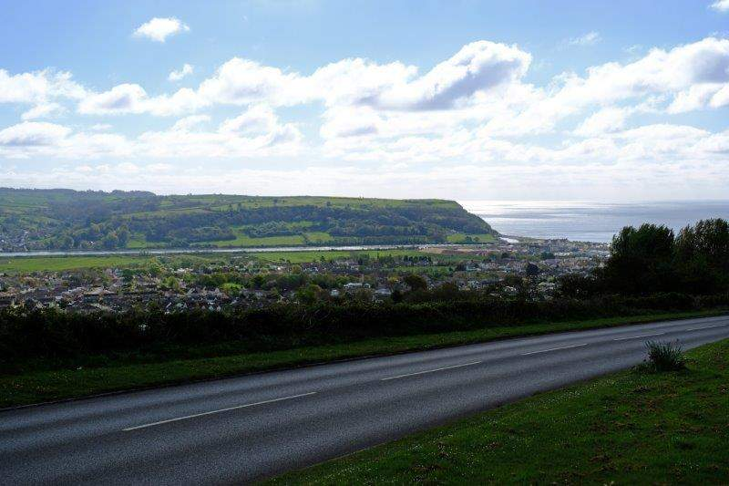 On a hill overlooking Seaton