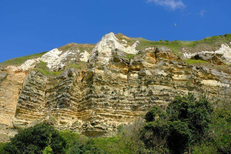 Different rock strata standing out