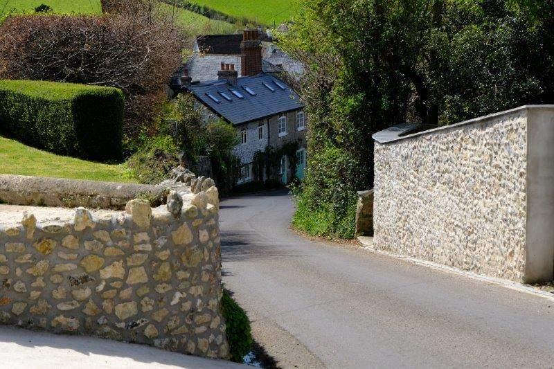 Looking behind us as we leave the village
