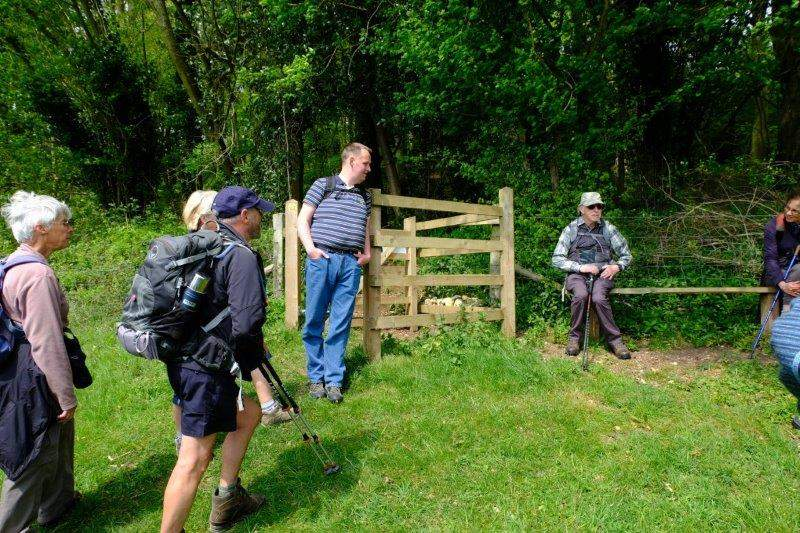 And Mike stops to tell the story of the kissing gate and seat