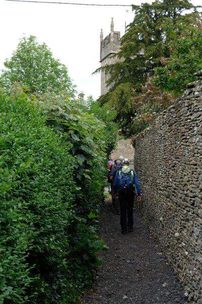 And up a narrow alley to the church